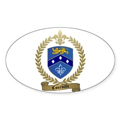 COURVILLE Family Crest Oval Decal