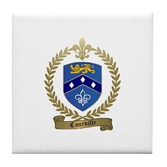 COURVILLE Family Crest Tile Coaster