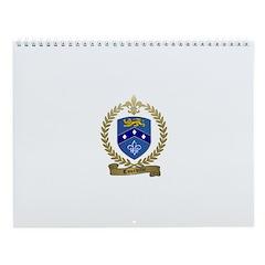 COURVILLE Family Crest Wall Calendar