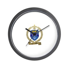 COURVILLE Family Crest Wall Clock