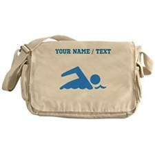 Custom Blue Swimmer Messenger Bag