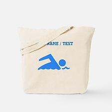 Custom Blue Swimmer Tote Bag