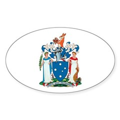 Victoria Coat of Arms Oval Decal