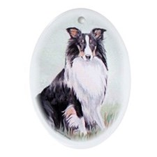 Sheltie Tricolor Oval Ornament