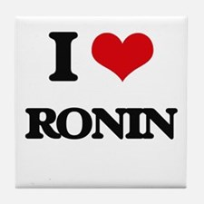 I Love Ronin Tile Coaster