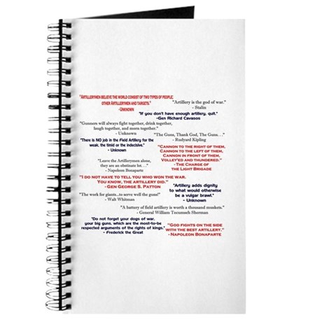 Artillery Quotes Journal
