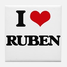I Love Ruben Tile Coaster