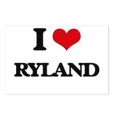 I Love Ryland Postcards (Package of 8)