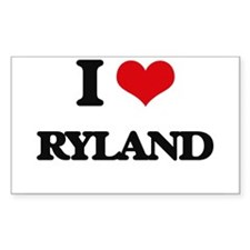 I Love Ryland Decal