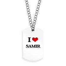 I Love Samir Dog Tags