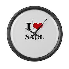 I Love Saul Large Wall Clock