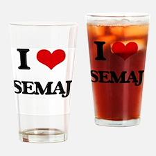 Unique Semaj Drinking Glass