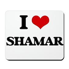 I Love Shamar Mousepad