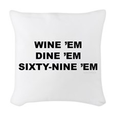 69 em Woven Throw Pillow