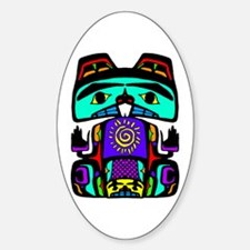 Native American Family Oval Decal
