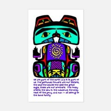 Native American Family Rectangle Decal