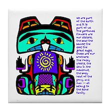 Native American Family Tile Coaster