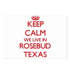 Keep calm we live in Rose Postcards (Package of 8)