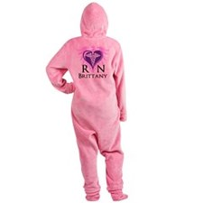 Personalized RN Crest Footed Pajamas