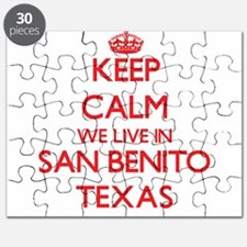 Keep calm we live in San Benito Texas Puzzle