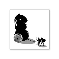 "Cool Trojan war Square Sticker 3"" x 3"""