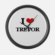 I Love Trevor Large Wall Clock