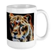 Lioness Fractal Flame Art MugMugs