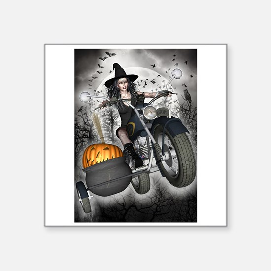 """Cute Witchy halloween Square Sticker 3"""" x 3"""""""