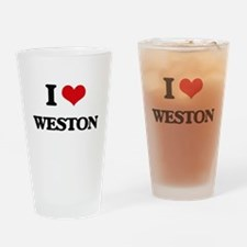 I Love Weston Drinking Glass