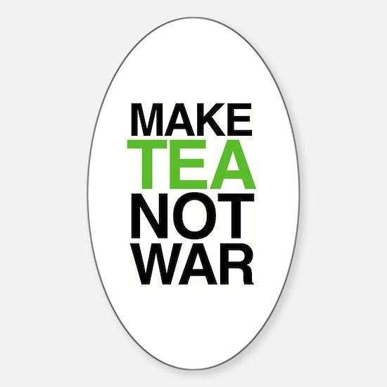 Make Tea Not War Oval Decal