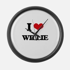 I Love Willie Large Wall Clock