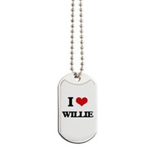 I Love Willie Dog Tags