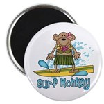 Surf Monkey (girl) Magnet