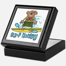 Surf Monkey (girl) Keepsake Box