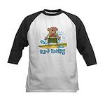 Surf Monkey (girl) Kids Baseball Jersey
