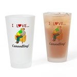 I Love Canoodling Drinking Glass
