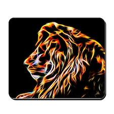 Lion Fractal Flame Art Mousepad