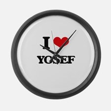 I Love Yosef Large Wall Clock