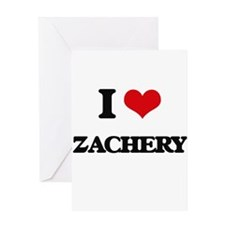 I Love Zachery Greeting Cards
