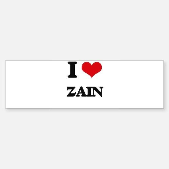 I Love Zain Bumper Bumper Bumper Sticker