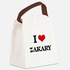 I Love Zakary Canvas Lunch Bag