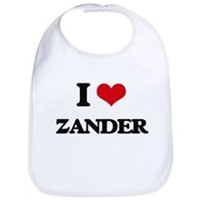 I Love Zander Bib