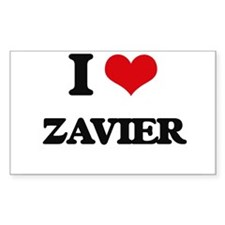 I Love Zavier Decal