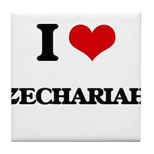 I Love Zechariah Tile Coaster
