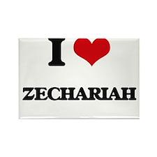 I Love Zechariah Magnets