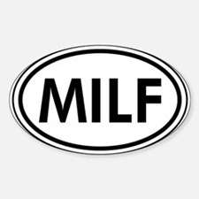 MILF Car Oval Decal