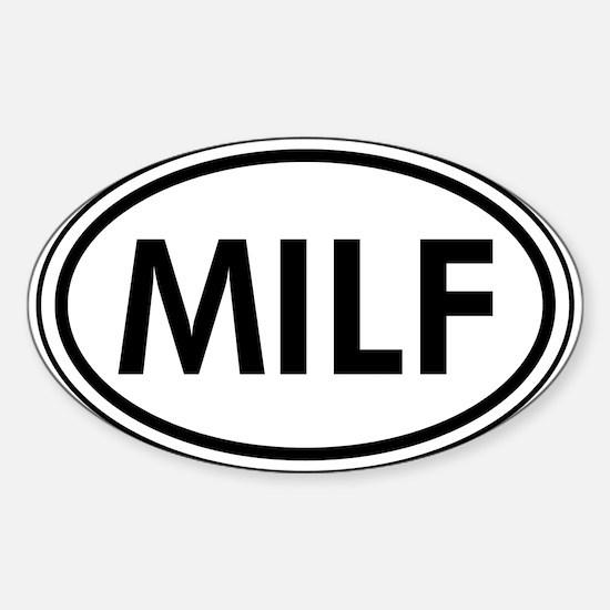 MILF Car Oval Decal