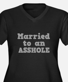 Married to an Asshole Women's Plus Size V-Neck Dar