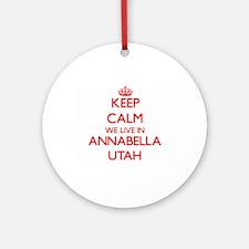 Keep calm we live in Annabella Ut Ornament (Round)