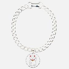 White Lucky Cat Left Arm Bracelet